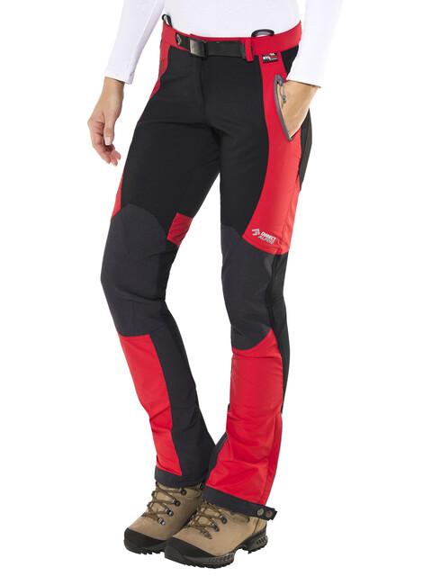 Directalpine Cascade - Pantalon long Femme - rouge/noir
